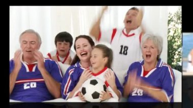 Animation of diverse families having fun — Stock Video