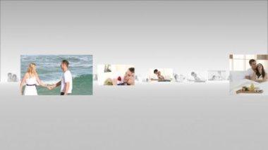 Montage of cute lovers having fun — Stock Video