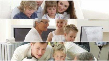 Animazione di un simpatico sorridente famiglia — Video Stock