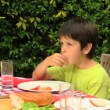 Family lunch in the garden — Stock Video