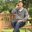 Young man phoning — Stock Video