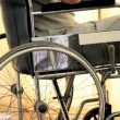 Man in a wheelchair thinking — Stock Video