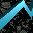Stock Video: 3D Animated Graph with Money
