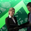 Associates working together — Stock Video #23634601
