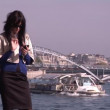 Businesswoman in Paris — Stock Video