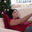 Woman with Christmas Presents — Stock Video #23639555