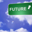 Signpost announcing the Future Way — Stockvideo