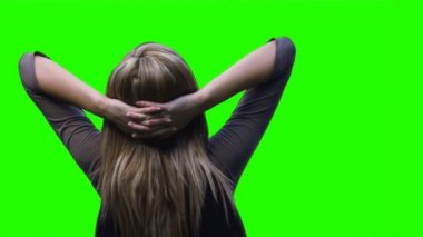 Green screen footage of a woman — Stock Video