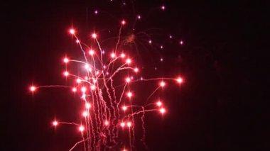 Exploding Fireworks — Stock Video