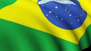 Brazilian Flag in High Definition — Vídeo de stock