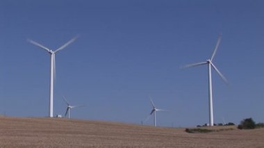 Wind-Turbine Electricity Generating — Stock Video