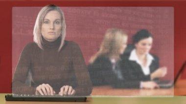 Donna che lavora in un ufficio — Video Stock