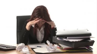 Stock Footage - of a Frustrated Woman — Stock Video