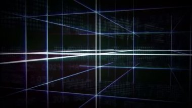Futuristic Gridline Background — Stock Video