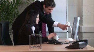 Businesswoman Working in Office — Stock Video