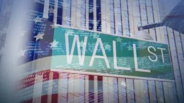 Wall Street Sign — Stock Video