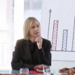 Business-team with a female leader — Stock Video #23640609