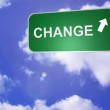 Signpost announcing Change Way — Stockvideo