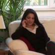 Woman on Sofa on Mobile Phone — Stock Video