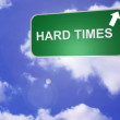 Stock Video: Hard Times Road Sign