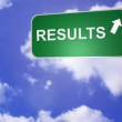 Signpost showing the Results Way — Stok video