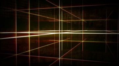 Abstract Futuristic Gridline Background — Vidéo