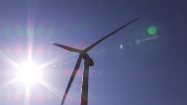 Wind powered generators — Stock Video