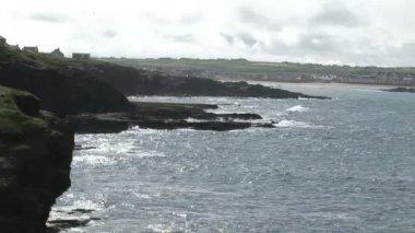 Waves Breaking against the Coastline — Stock Video