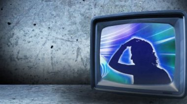 Tv visar folk dansar — Stockvideo