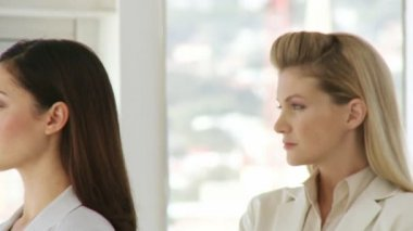 Two prosperous female business managers confident and optimistic about the future — Stock Video