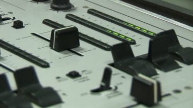 Person using a Mixing Desk — Stock Video