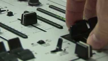Music Mixing Desk — Stock Video