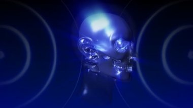 Dijital adam x-ray — Stok video