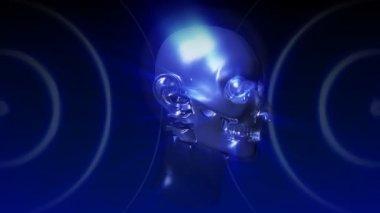Muž digitální rentgen — Stock video