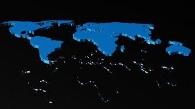 Mapa světa — Stock video