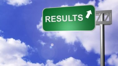 Signpost showing the Results Way — Stock Video