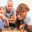 Siblings playing chess — Stock Video