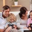 Children playing video games — Stock Video #23695153