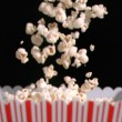 Popcorn falling into bag in super slow motion — Stock Video