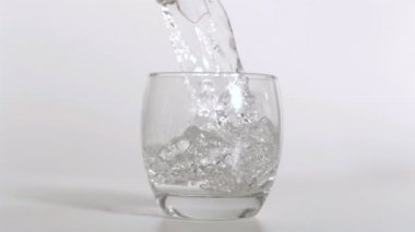 Water being poured heavily in super slow motion — Stock Video