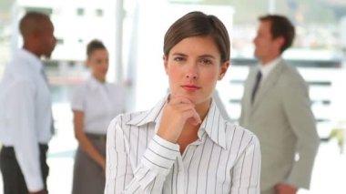 女商人思维和构成 — 图库视频影像