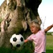 Child playing football — Stock Video #23715283