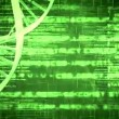 Green DNA Helix with flying text — Stock Video