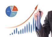 Hand rita en graf — Stockfoto