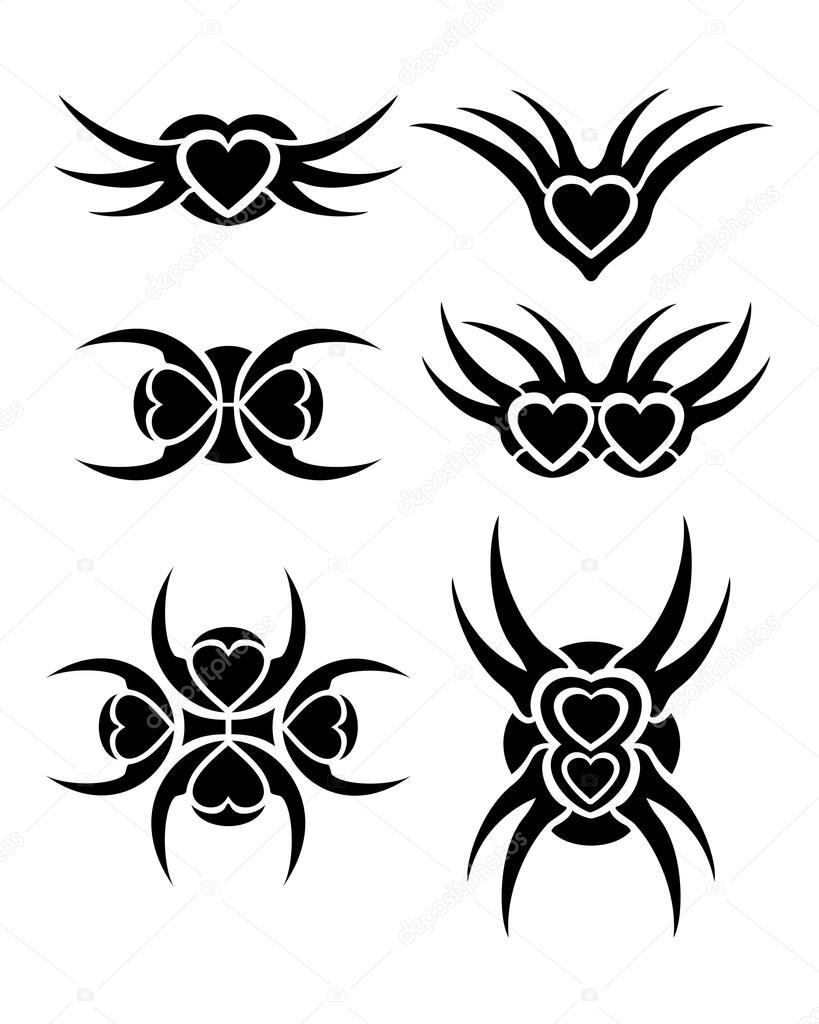 心部落纹身套 — 矢量图片作者