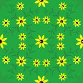 Flowers seamless background — 图库矢量图片