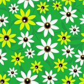 çiçekler sorunsuz arka plan — Stok Vektör