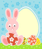 Easter background with bunny — Stock Vector