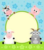 Animal cartoon background — Stock Vector