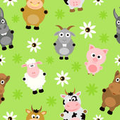 Seamless background card with animals — Stock Vector